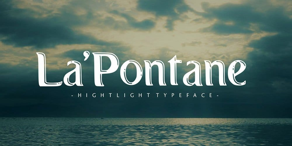 LaPontane Display Typeface