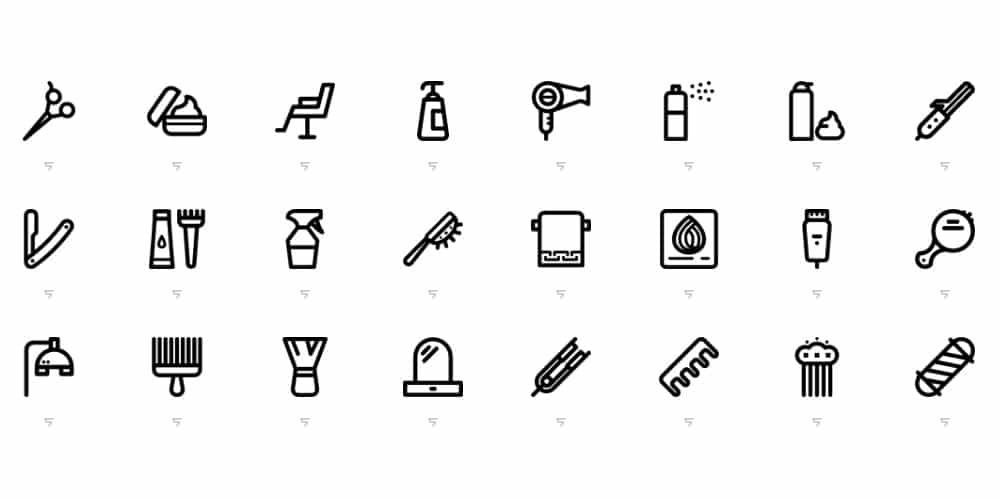 Linear-Hairdressing-Salon-Icons