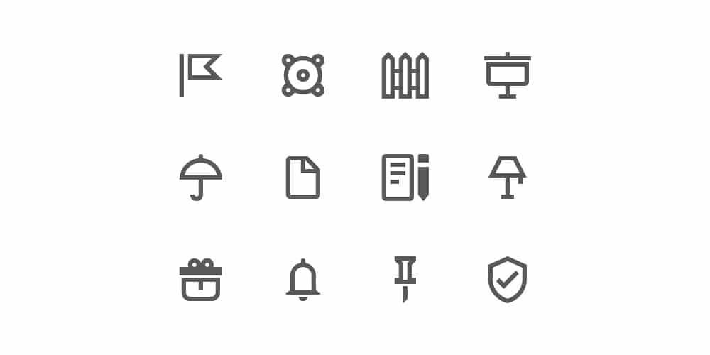 آیکن نمای کلی مواد طراحی