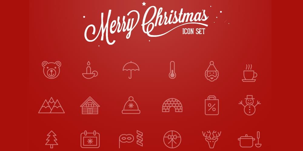 Merry Christmas Icons PSD
