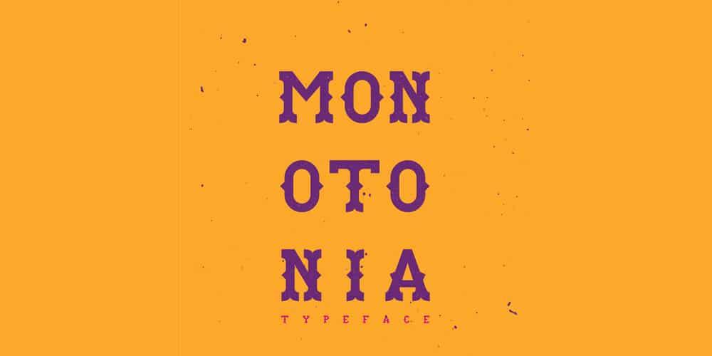 Monotonia Display Typeface