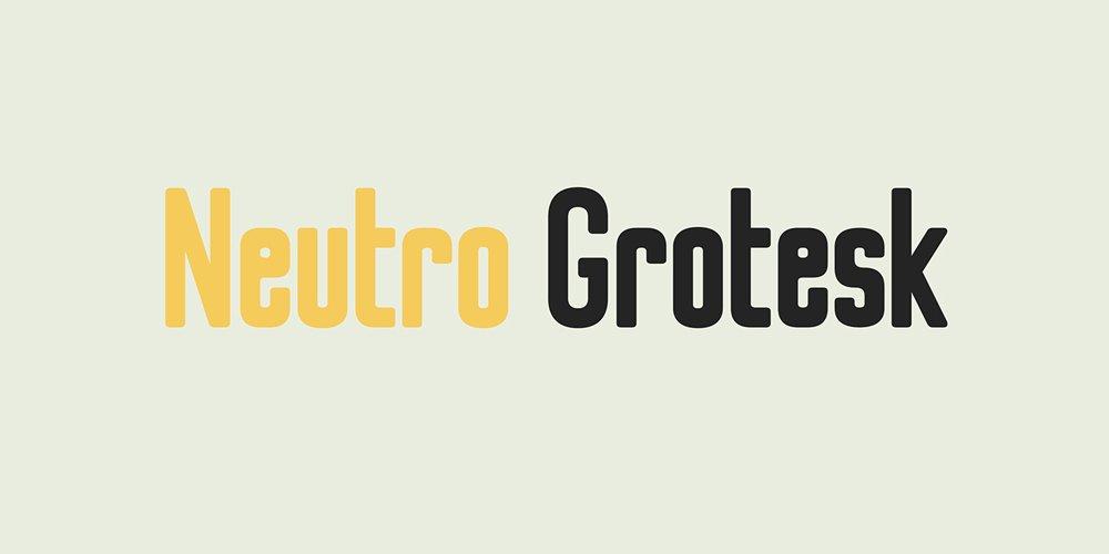 Neutro Grotesk Typeface