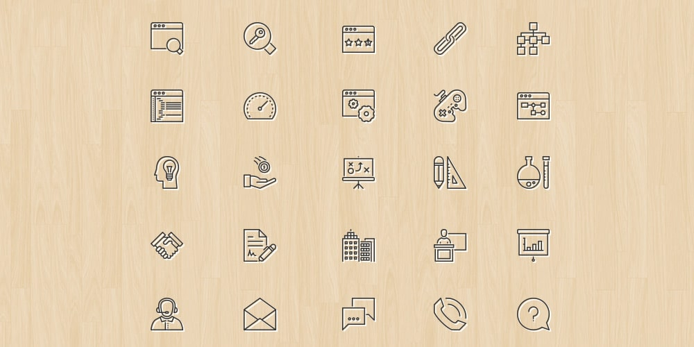 Online Business And Finance Icons PSD