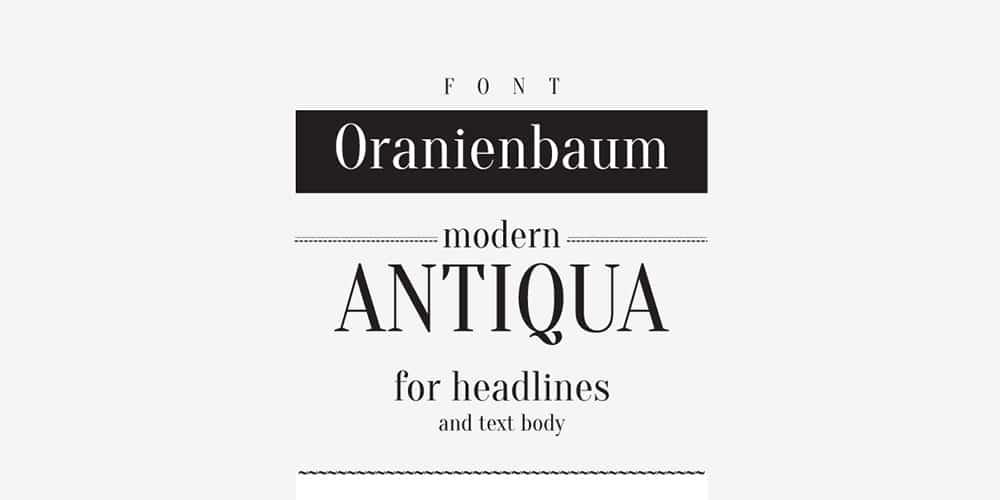 Oranienbaum Typeface