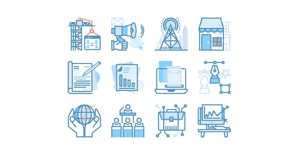 SEO and Web Market Icons