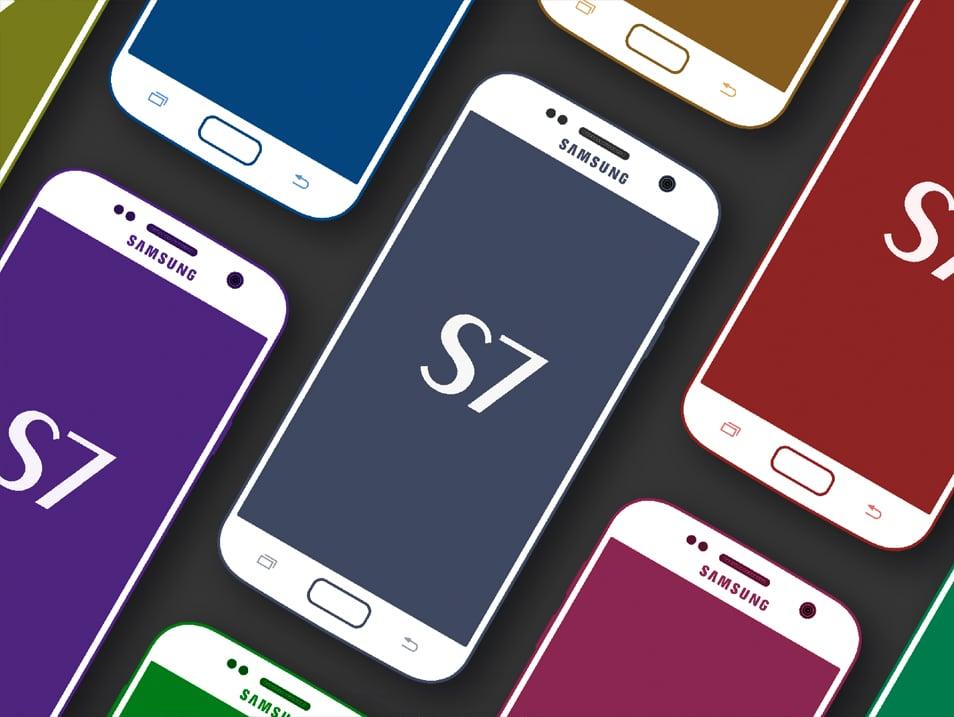 Samsung Galaxy S7 Cool MockUp