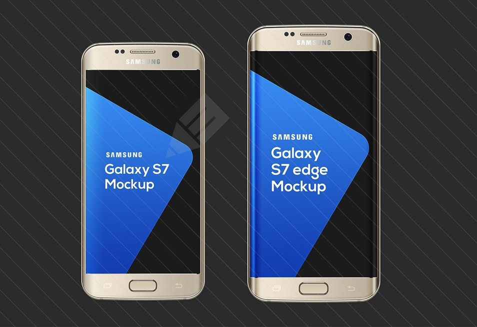 Samsung Galaxy S7 & S7 Edge Mockup