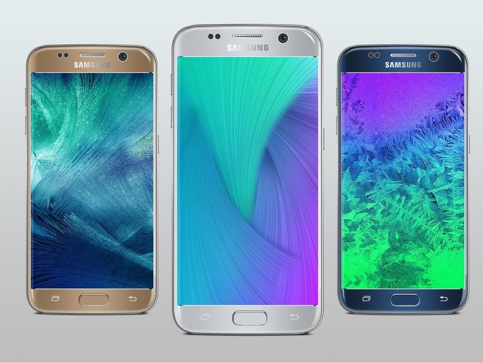 Samsung Galaxy S7 Silver Mockup