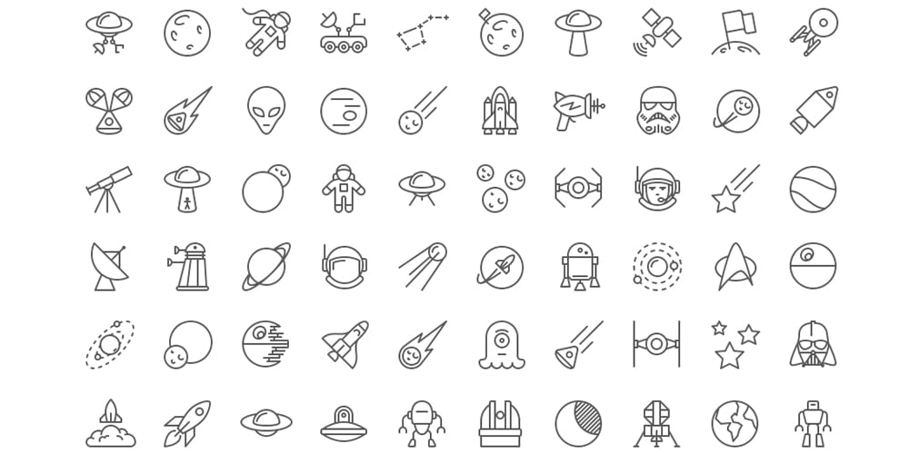 Space iOS Line Icons