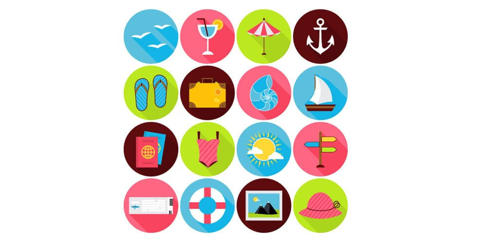 Summer-Travel-Flat-Icons