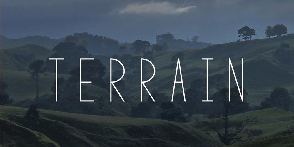 Terrain Font