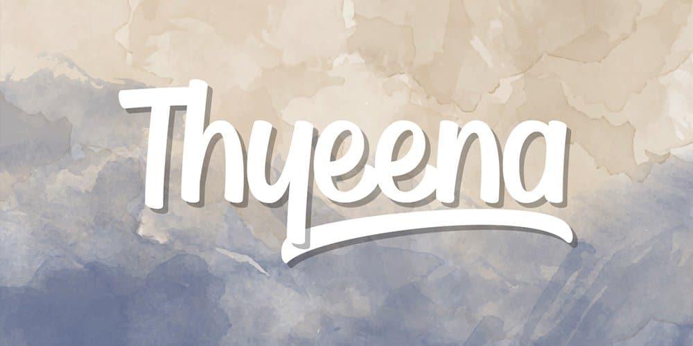 Thyeena Handwritten Typeface