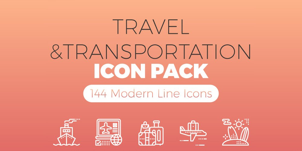 Travel & Transportation Icons