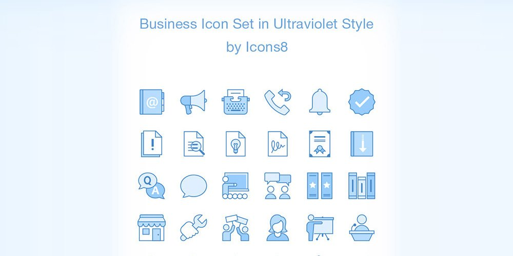 Ultraviolet-Business-Icons
