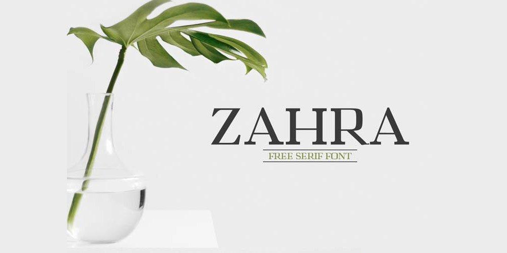 Zahra Serif Font