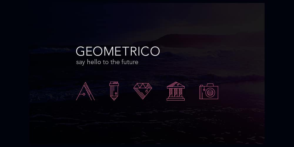Geometrico - آیکن رایگان خط