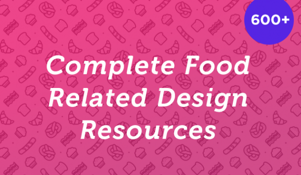 600+ Food Related Design Resources