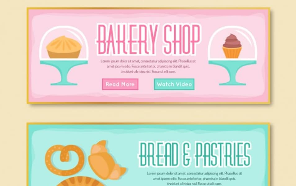 Bakery banners collection
