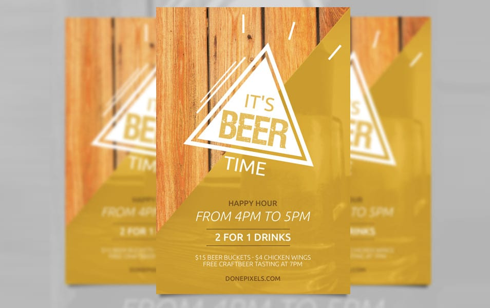 Beer Time Free Flyer Template