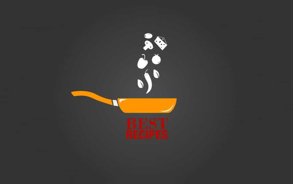 Best recipes logo with yellow pan