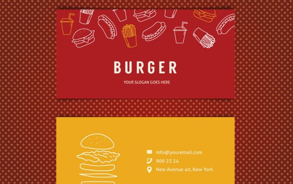 Burger restaurant business card