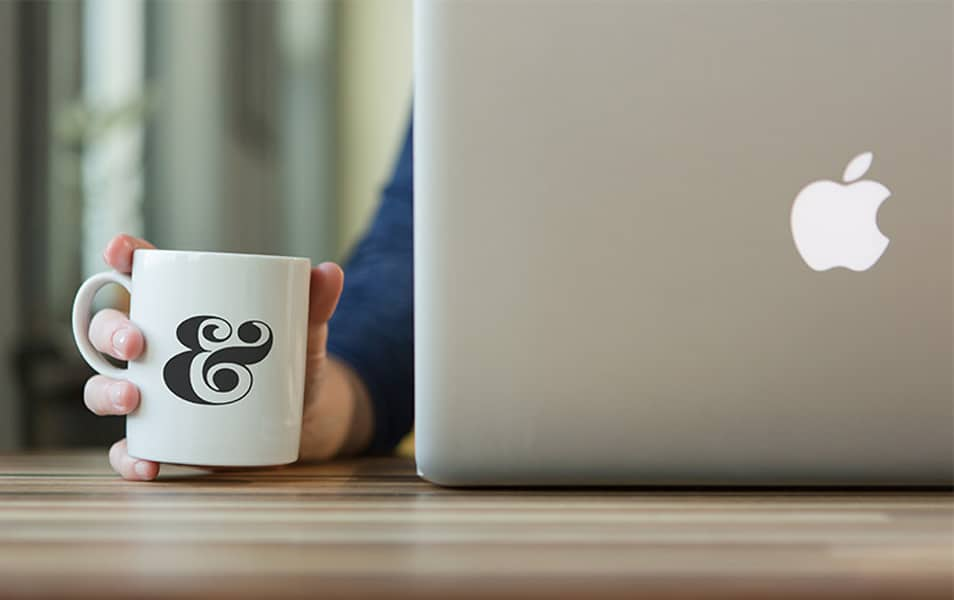 Coffee Mug and MacBook Mockup