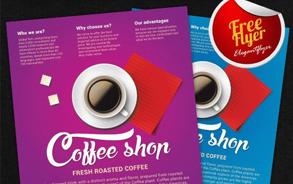 Coffee Shop – Free Flyer PSD Template + Facebook Cover