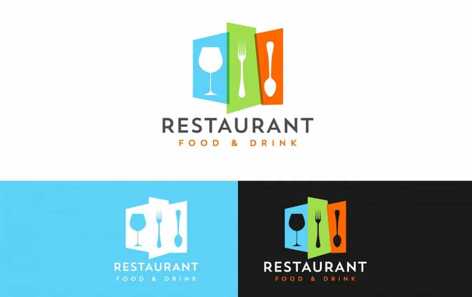 Colorful restaurant logo design