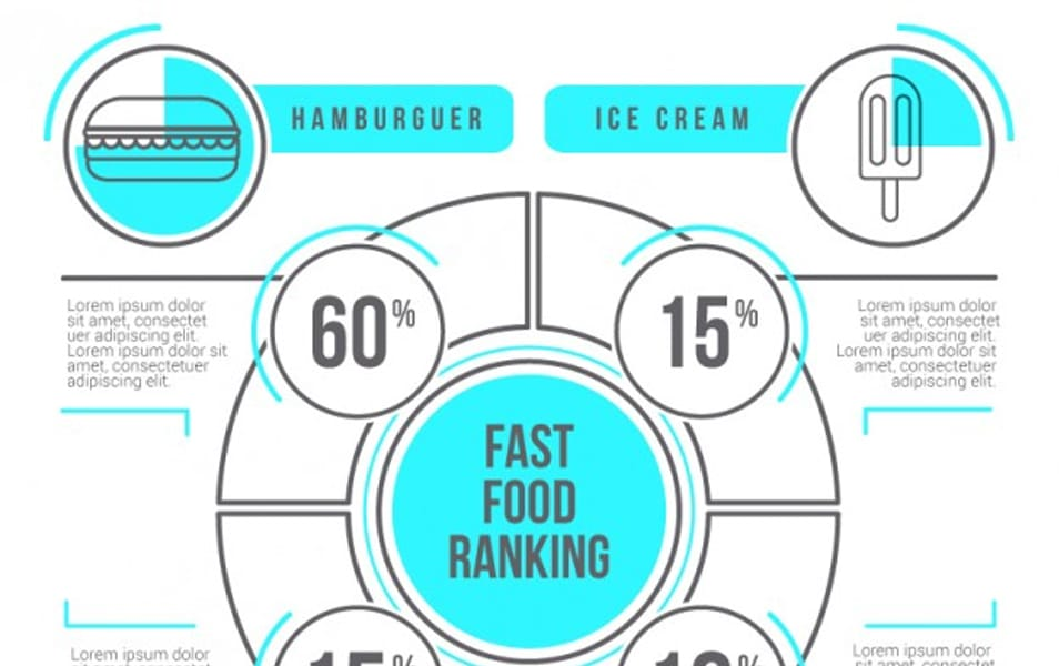 Cute fast food infographic