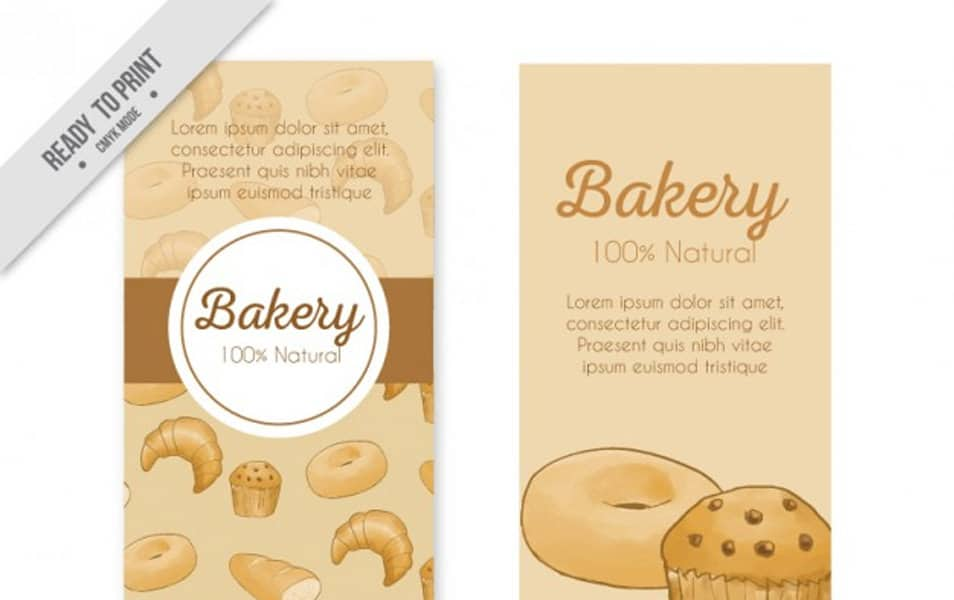 Delicious bakery products banners