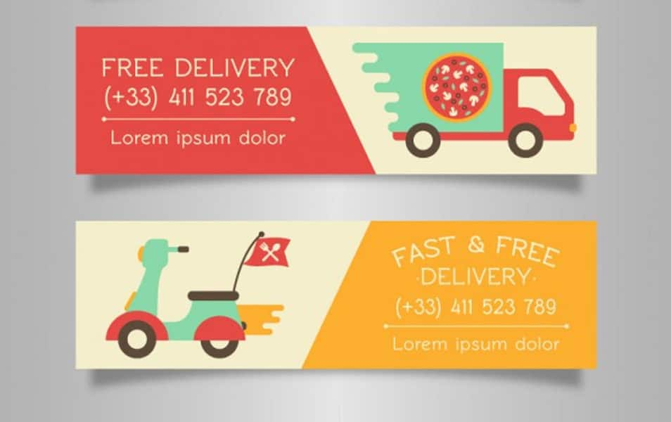 Delivery banners