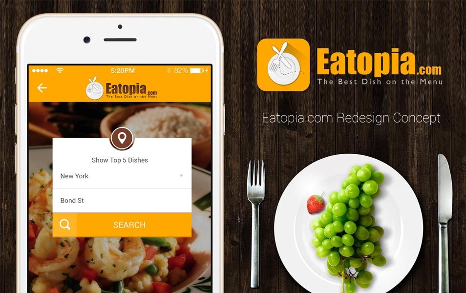 Eatopia.com Redesign Concept free mobile ui PSD
