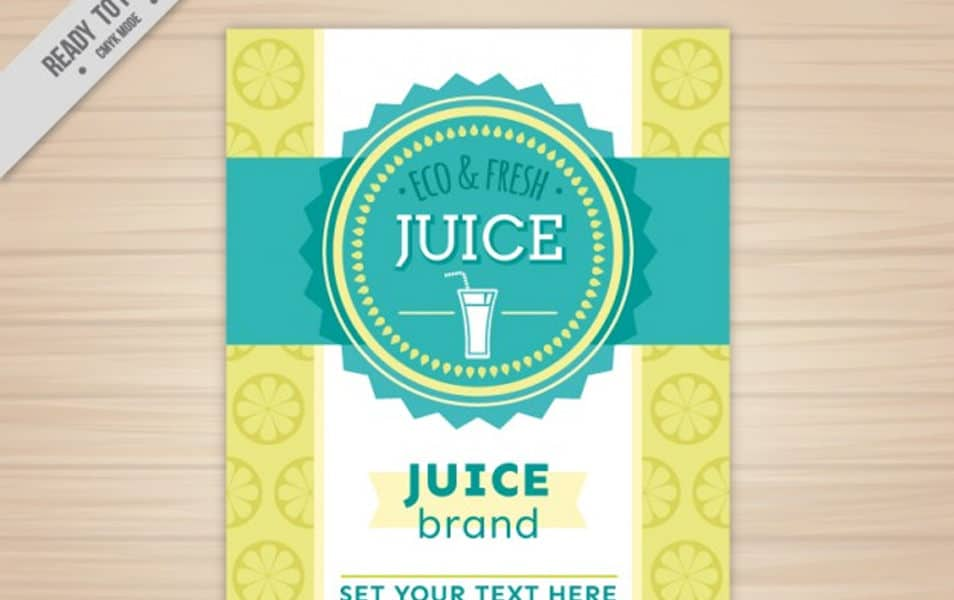 Eco and fresh juice poster