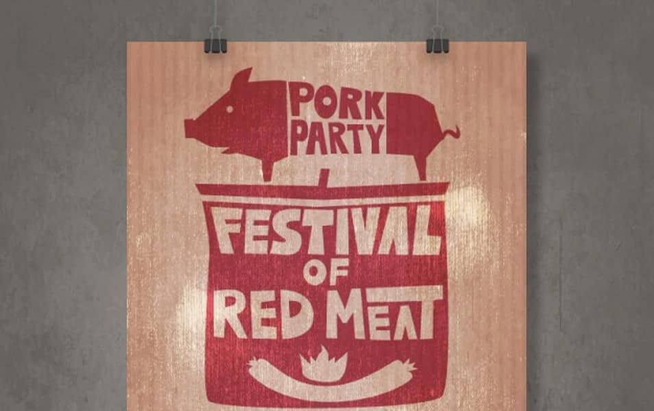 Festival of red mear poster
