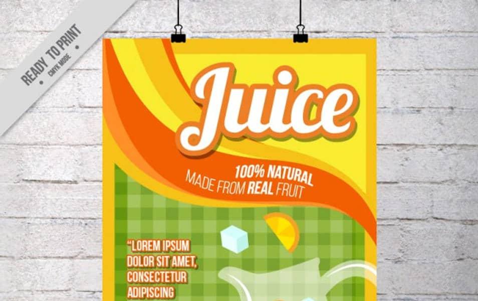 Flat orange juice poster