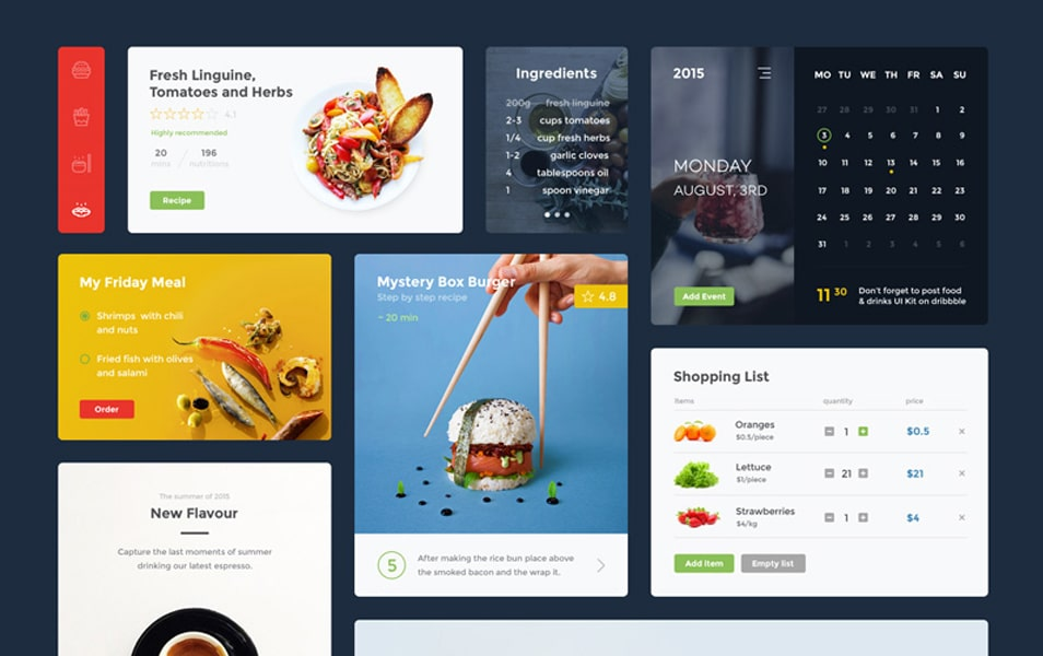Food & Drink UI Kit (Sketch)