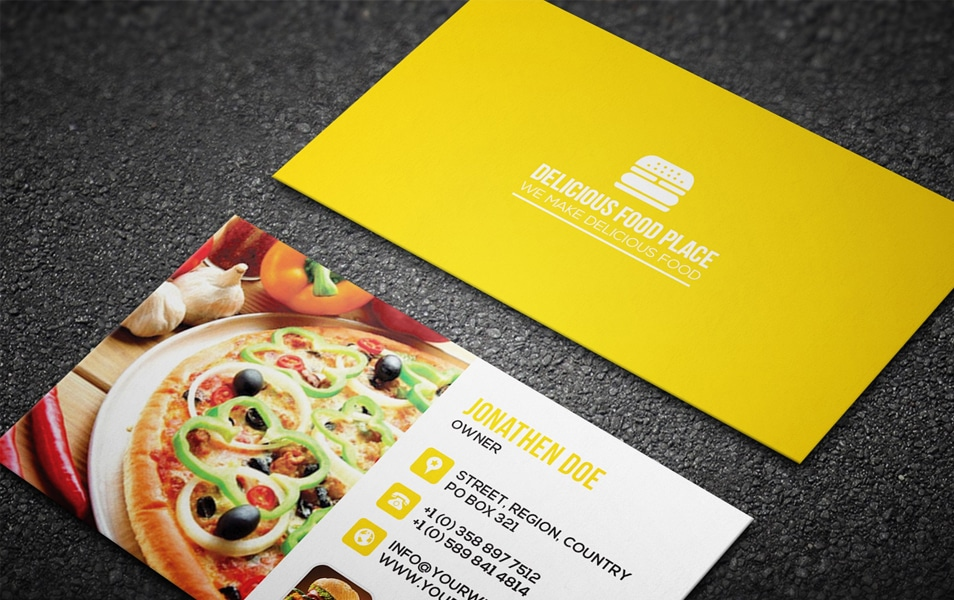 Free Delicious Food Business Card #4
