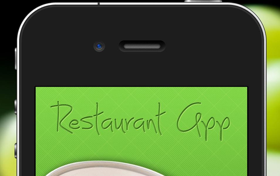 Free Restaurant App PSD