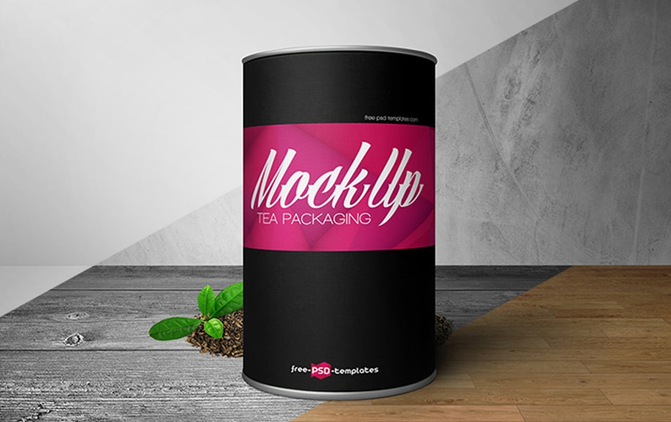 Free Tea Packaging Mock-up in PSD
