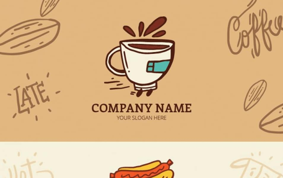 Hand drawn food truck and coffee banners