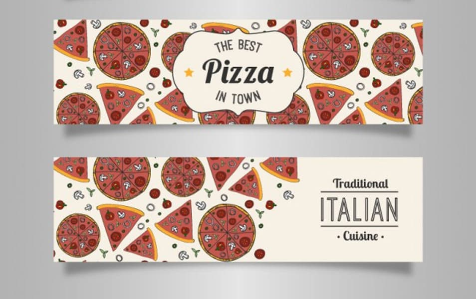 Italian pizza banners