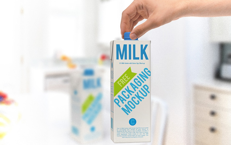 Milk Carton Free Mock-Up