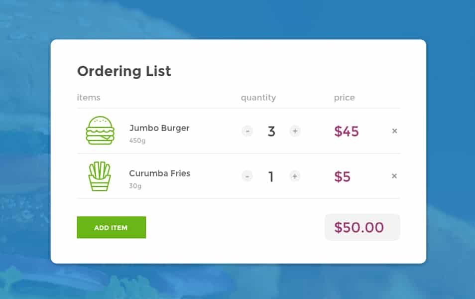 Ordering List