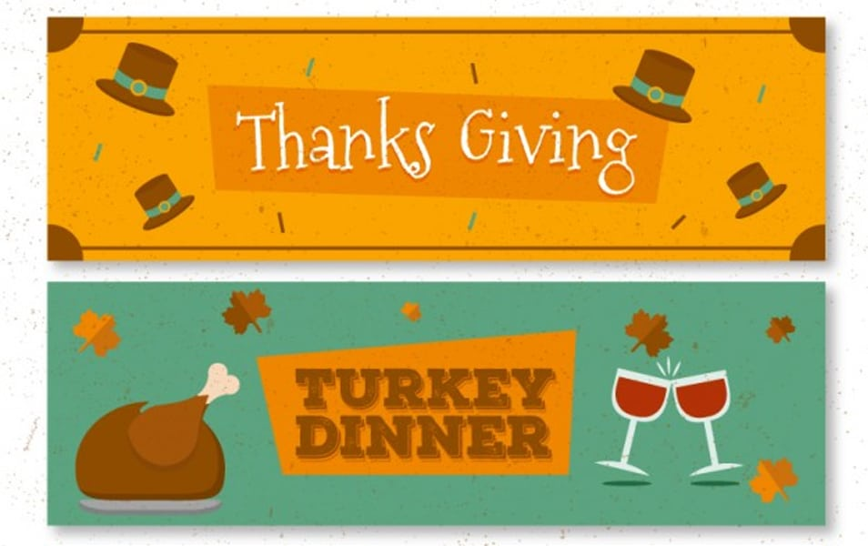 Pack of thanksgiving banners