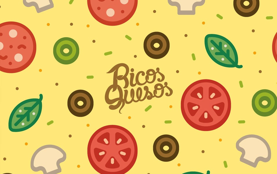 Free Wallpaper: Pizza Pattern