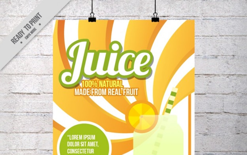 Poster advertising orange juice