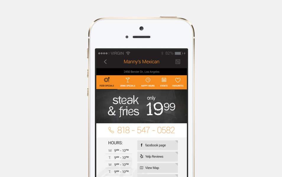 Restaurant App Detail