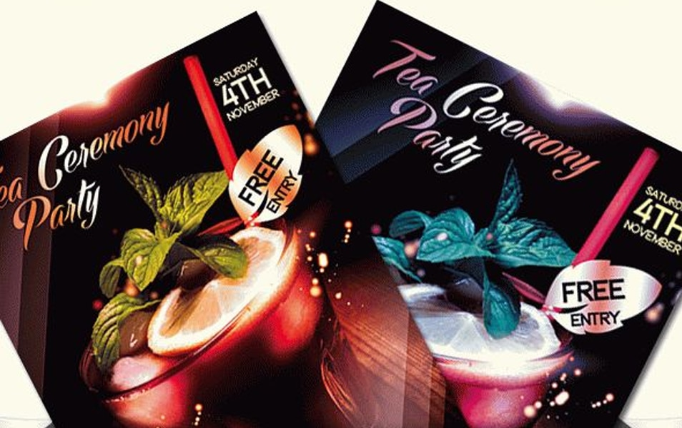 Tea Ceremony Party – Flyer PSD Template + Facebook Cover