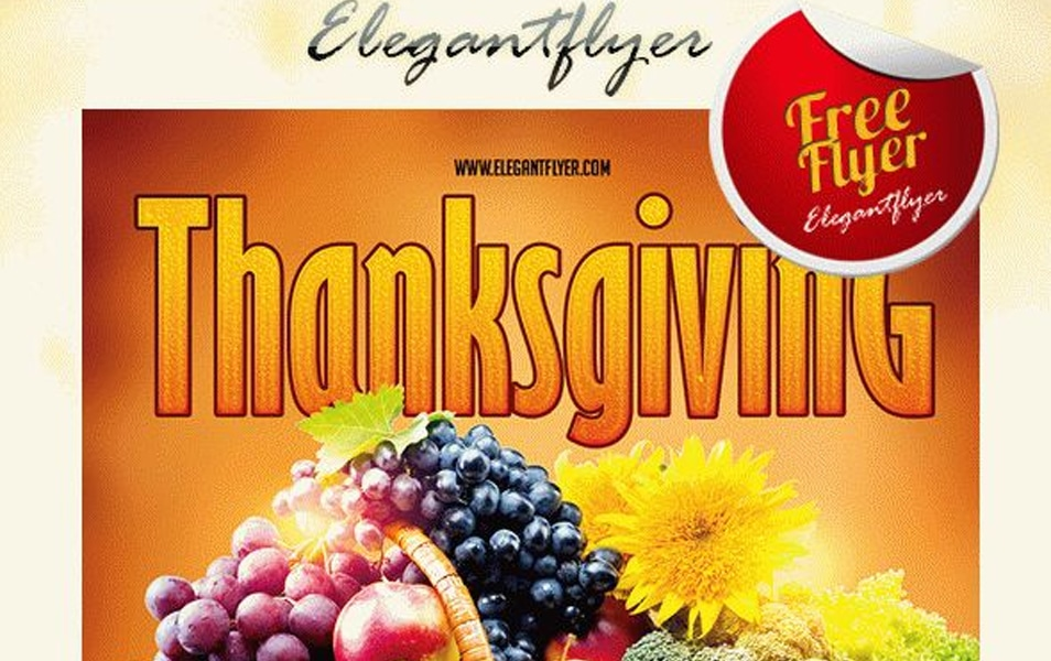 Thanksgiving – Flyer PSD Template + Facebook Cover