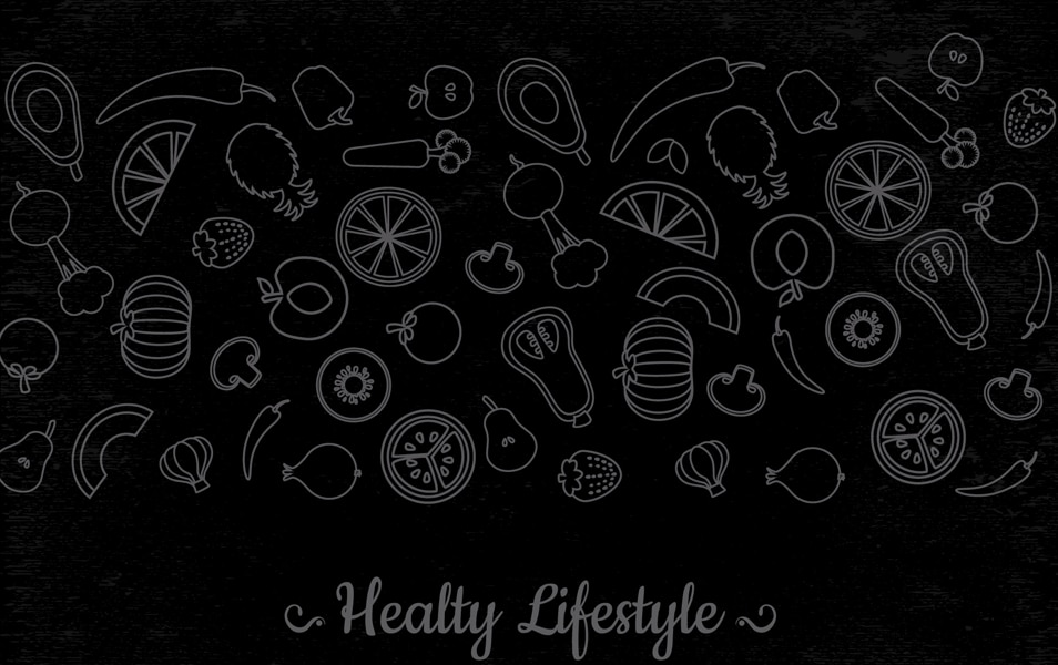 Thin line vegetables banner